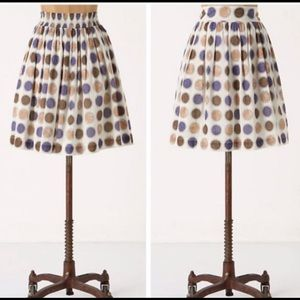 Anthropologie Edme&Esyllte Circle Pattern Skirt S
